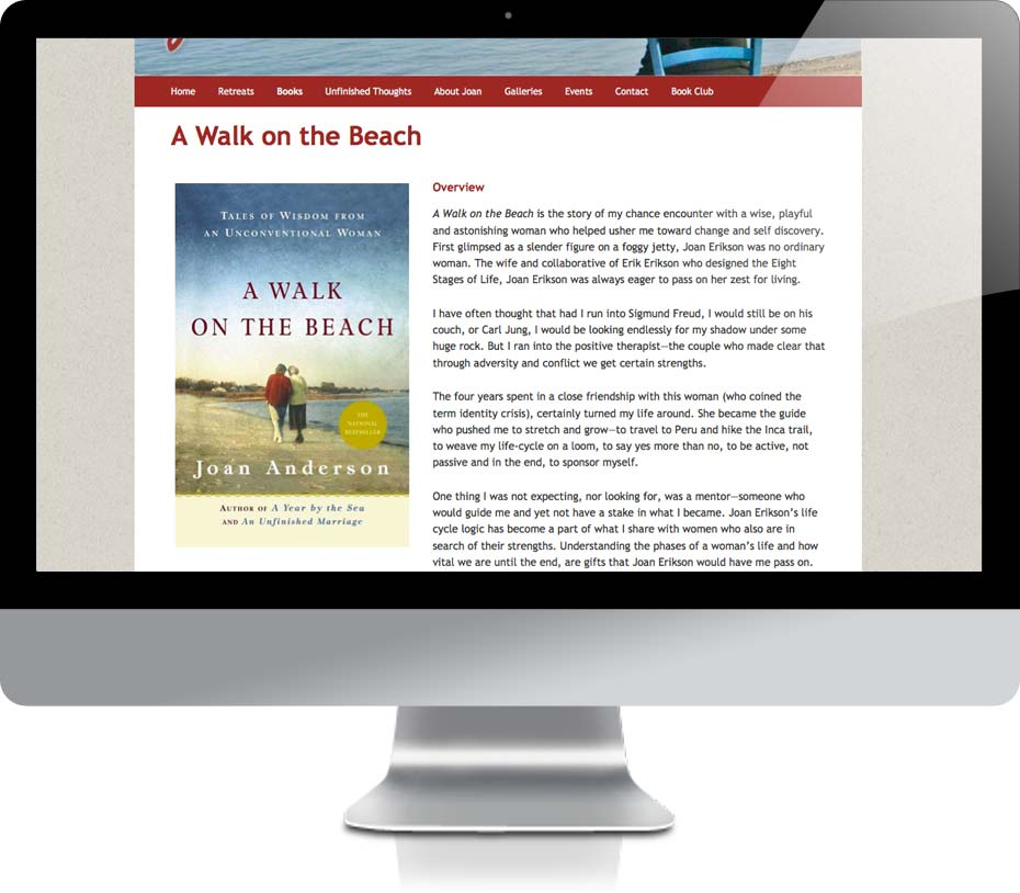 Joan Anderson website